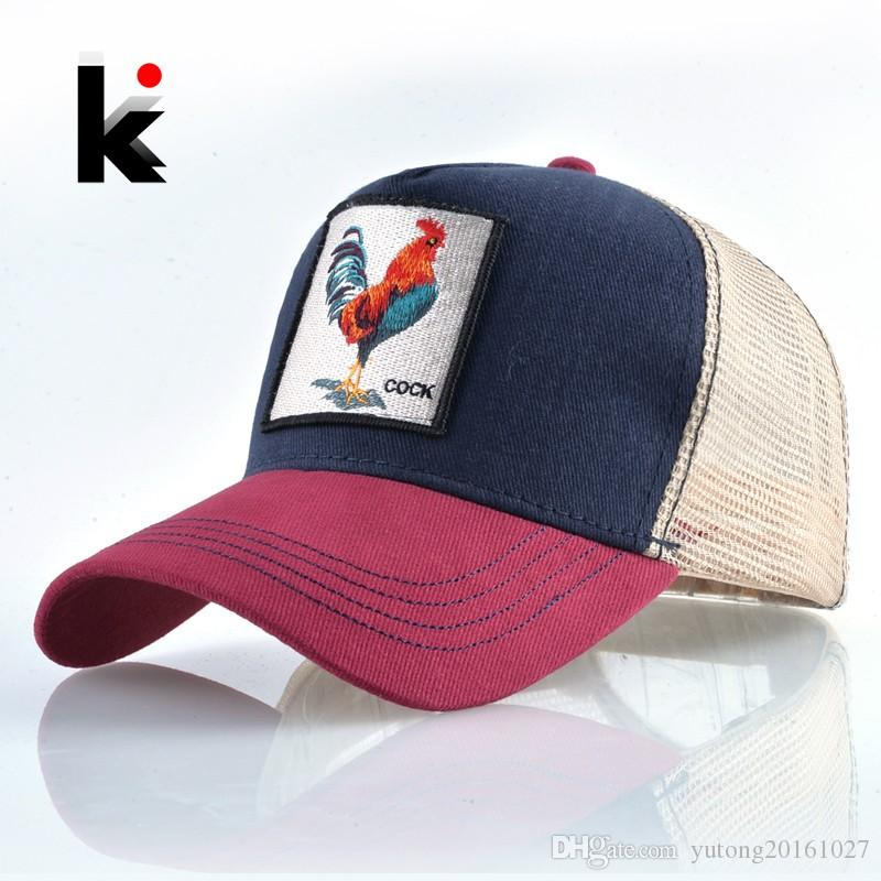 3a91b2c0079b1 2019 Top Fashion Baseball Cap For Men Women Summer Mesh Embroidery Cock  Trucker Bones Snapback Hip Hop Hat Casual Cotton Casquette From  Yutong20161027