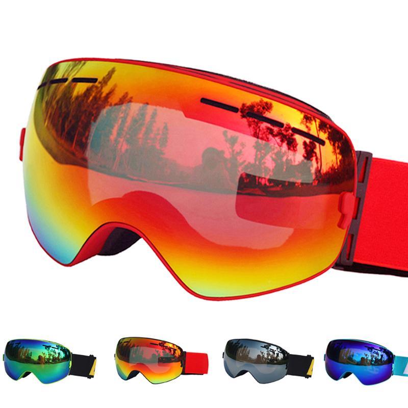 a18bea6e09b Ski Glasses Double Layers UV400 Anti-fog Ski Goggles Snow Skiing ...