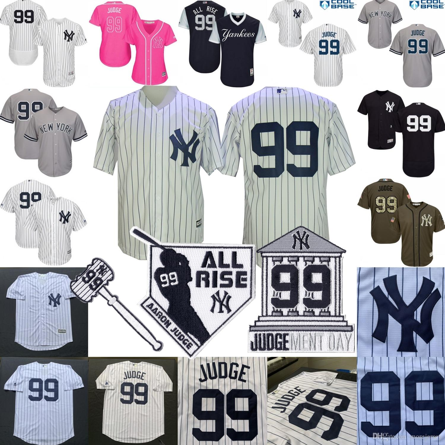 on sale fdb87 d418c Aaron Judge Jersey New York Baseball Yankees Jersey Men Women Youth Kid All  Rise Hammer Ment Day Patch All Stitched