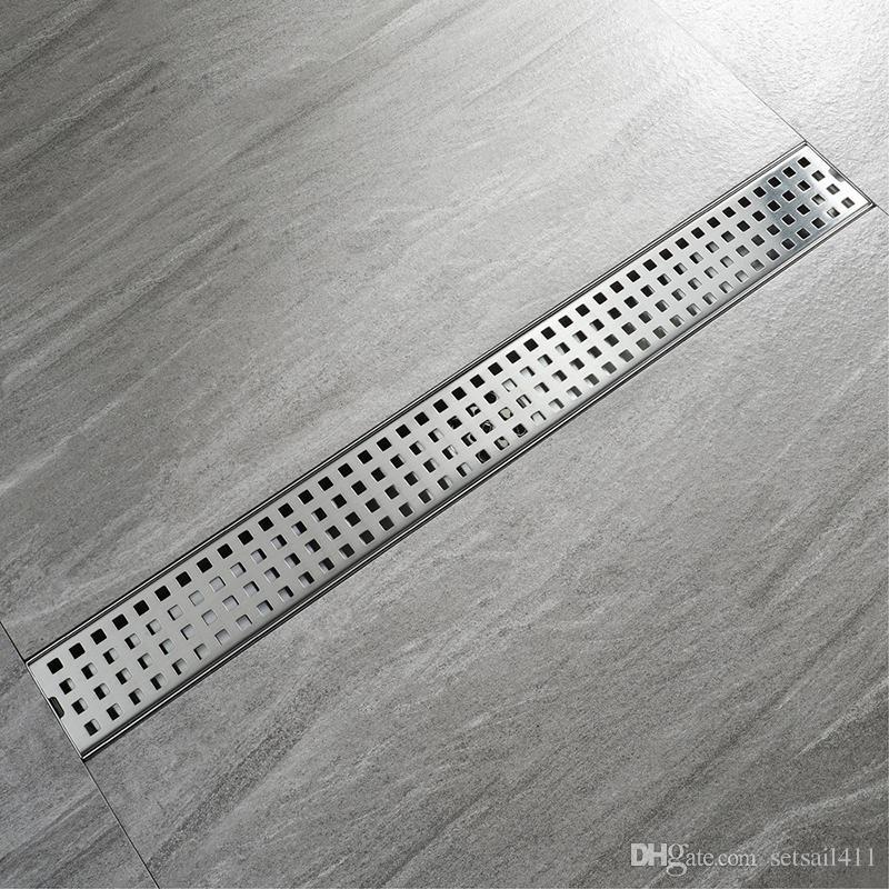 Marvelous Bathroom Floor Drain 60Cm 80Cm 100Cm Stainless Steel Deodorization Type Shower Drains Brushed 304Sus Long Drainer Download Free Architecture Designs Fluibritishbridgeorg