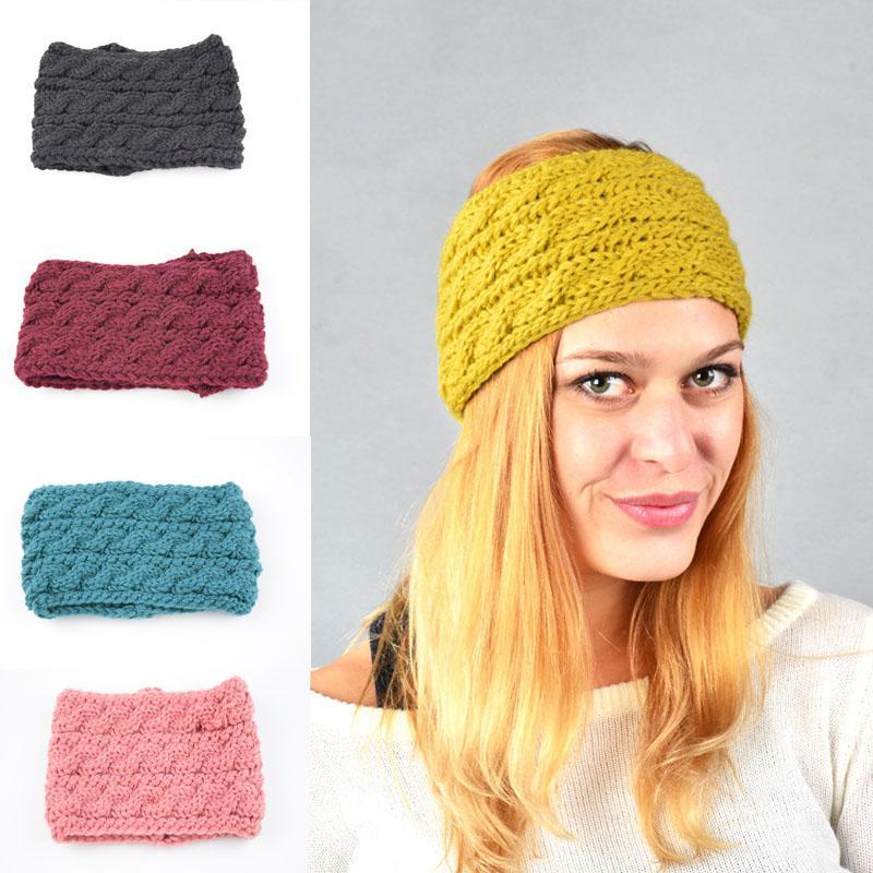 Compre Moda De Invierno Cintas Para El Pelo Lana Para Las Mujeres Dama  Estudiante Crochet Turban Orejeras De Punto Calentador De Las Niñas  Accesorios Para ... 093a523e8fe