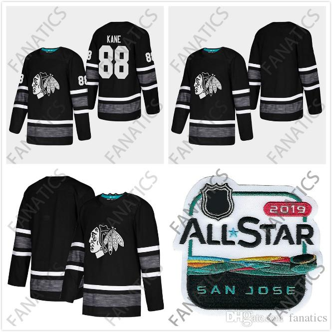 2019 Cheap 2019 All Star Jersey Chicago Blackhawks Men 88 Patrick Kane Black  Blank Top Quality 2019 All Star Patch Hockey Jersey From Fanatics 461c3e60f