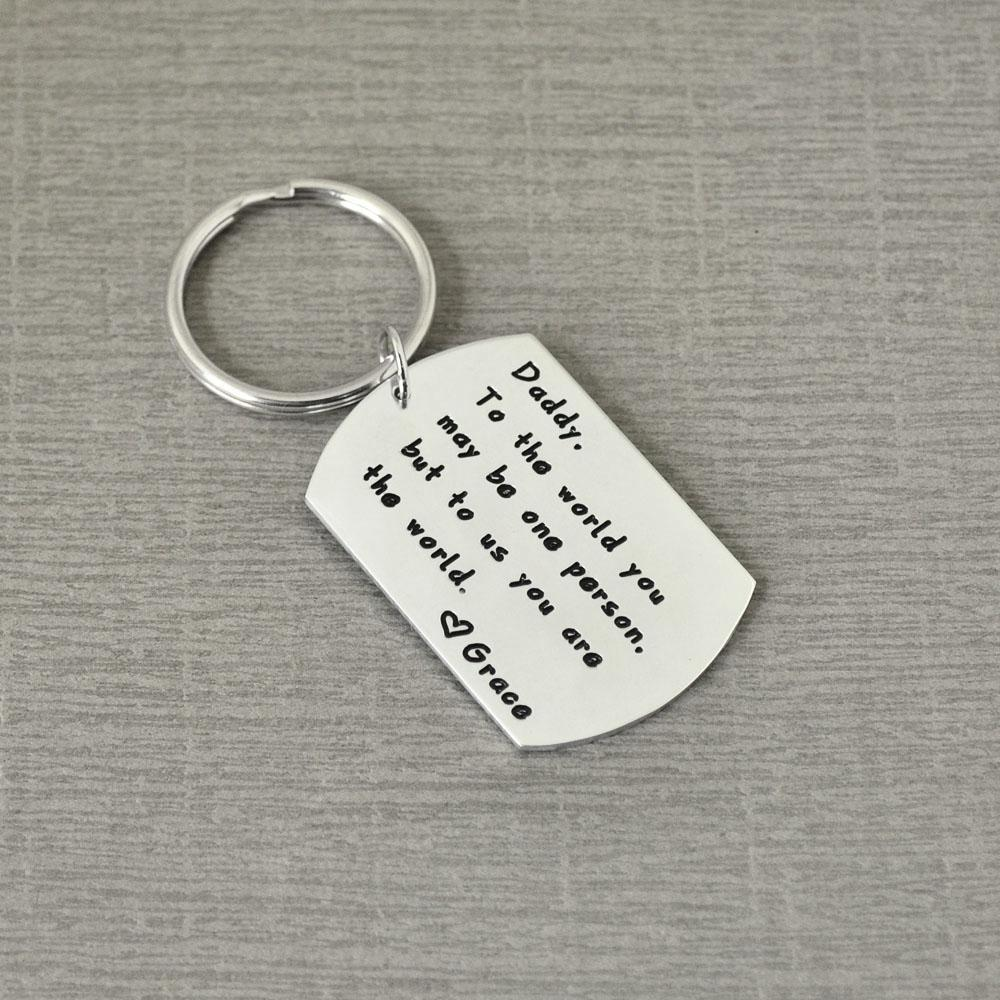 Cheap Chains Father s Keychain,Personalized Keychain for Dad,Dad Key  Ring,Gift for Daddy,Father s Day Gift Key Chains