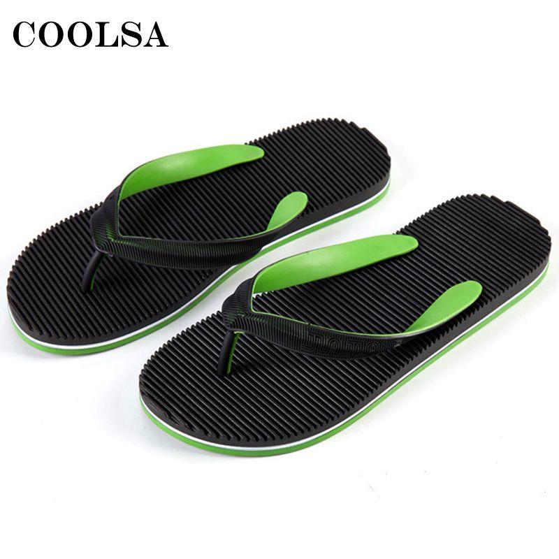 b9e39f7e36bf38 Summer Men Flip Flops Beach Slippers Mixed Colors Flat Slides Bathroom Sandals  Non Slip Home Flip Flop Male Casual Slip On Shoes Slipper Dress Shoes From  ...