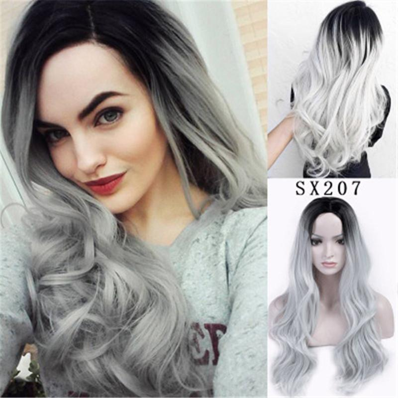 New Style Omber Lace Front Wigs For Women Best Synthetic Hair Wavy Wig 26  Inches Cosplay Wig Heat Safe Role Playing Christmas Wigs Wigs And Weaves  Janet ... e0617d3f94