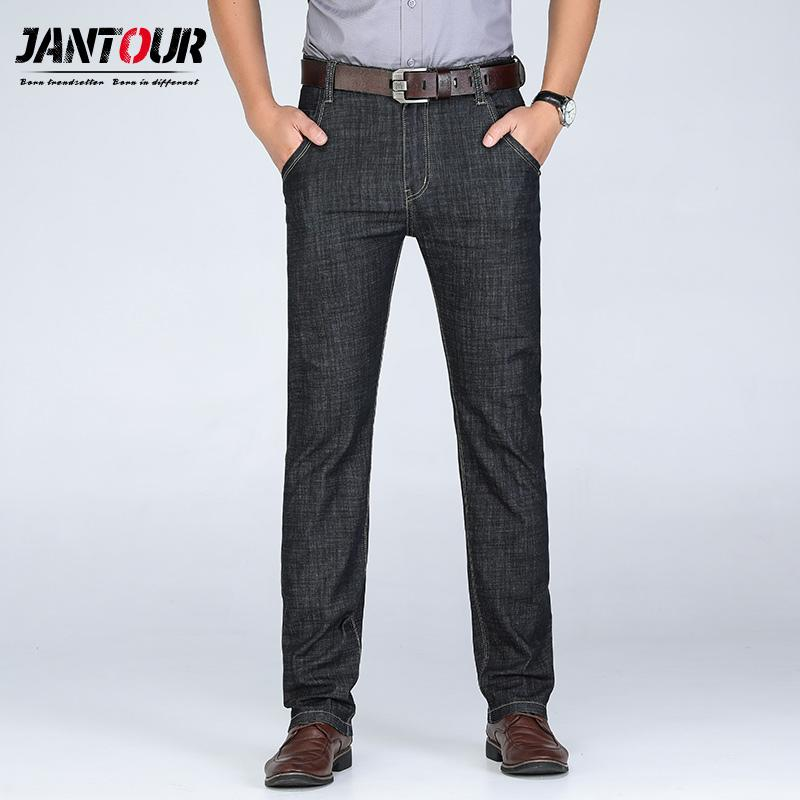 Men's Clothing Popular Brand Jantour Brand 2019 New Summer Spring Jeans Men Brand Clothing Side Denim Jeans Men Fashion Quality Stretch Pants Jeans Male