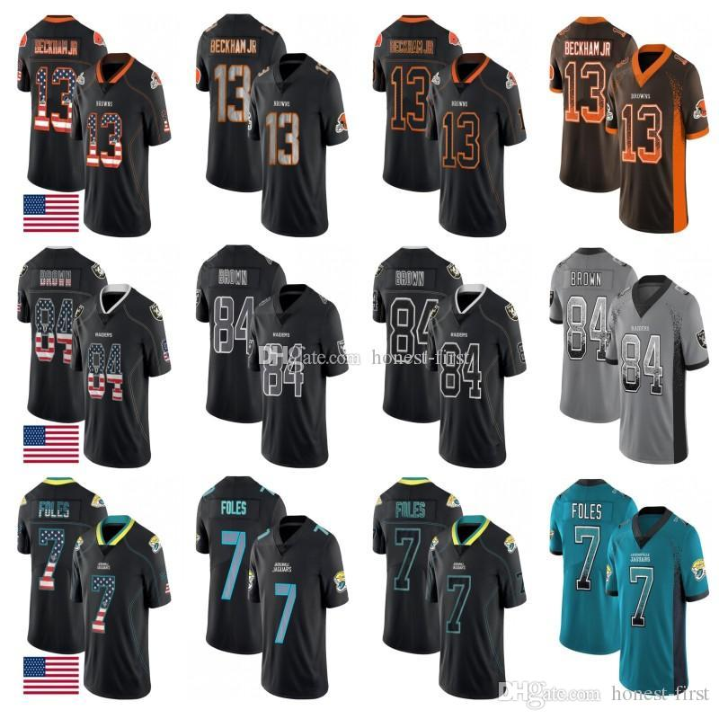 finest selection 867b9 0db5a Cleveland 13 Odell Beckham Jr Browns Jersey Jacksonville 7 Nick Foles  Jaguars Oakland 84 Antonio Brown Raiders Stitched Salute to Service