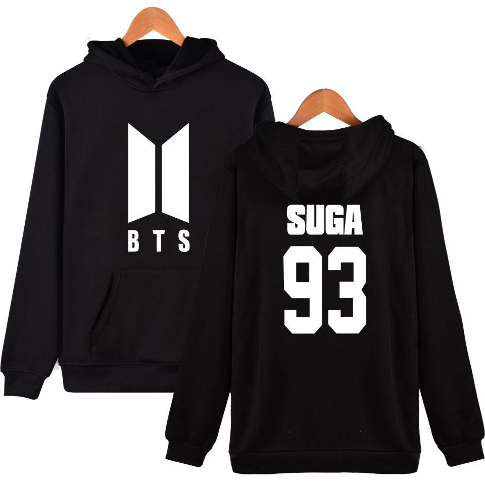 Bts Kpop Hoodies Women/men Fashion Popular Bangtan K-pop Hooded Women  Hoodies Sweatshirt Hip Hop Female Clothes Suga 93