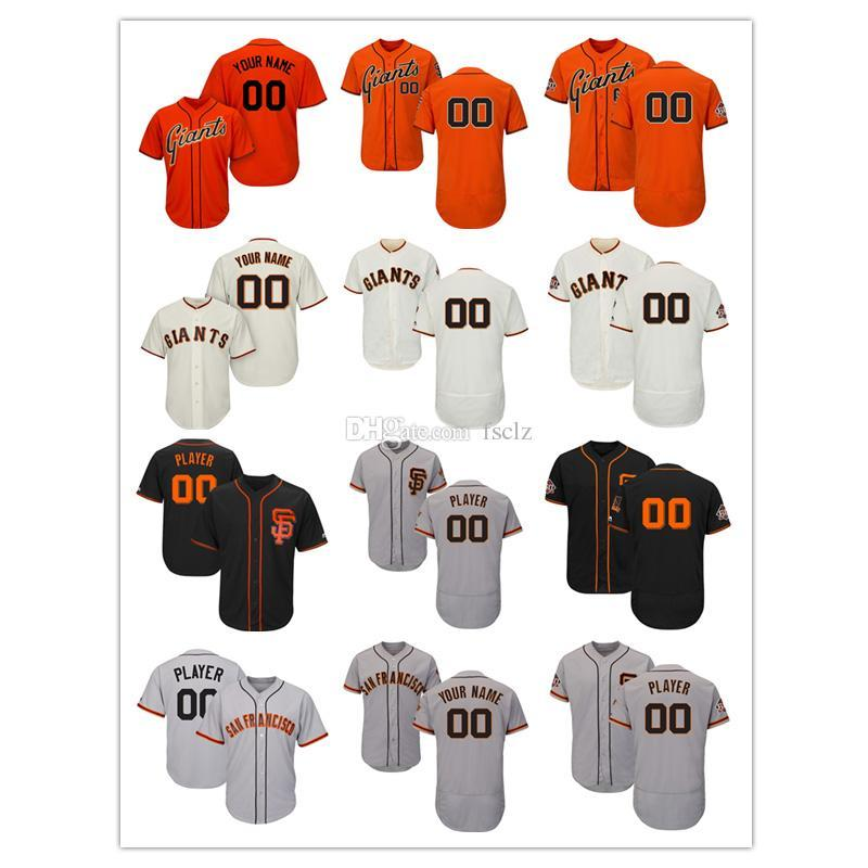 the latest a9846 4f9d0 Mens San Francisco Giants 60th Season Patch High quality Custom Baseball  jersey and blank jersey, Please message name and number