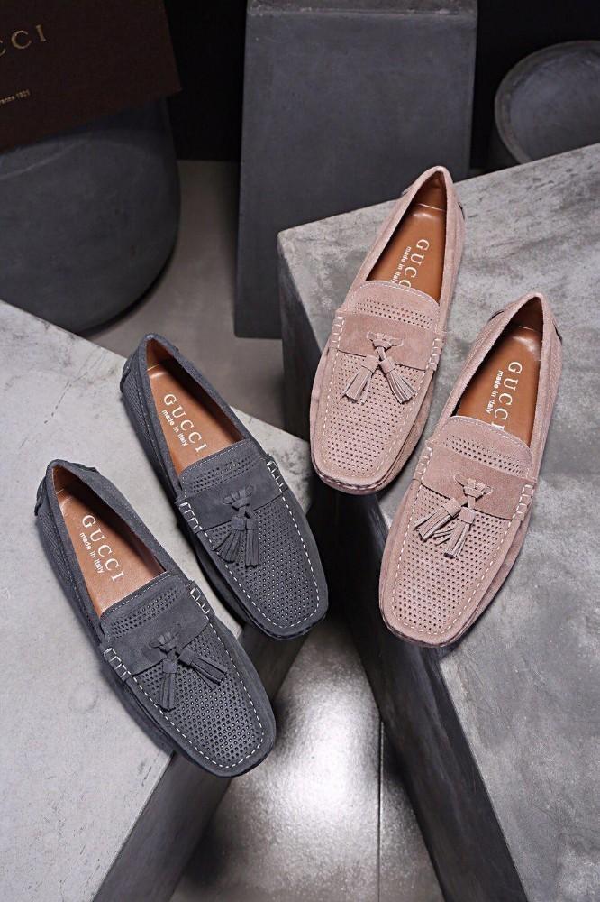 1310f4f5 Compre Principios De La Primavera De Los Hombres Nueva Moda Transpirable  Casual Marca Salvaje Único Encanto Cuero Guisantes Shoesof A $75.66 Del  Iwalkers06 ...