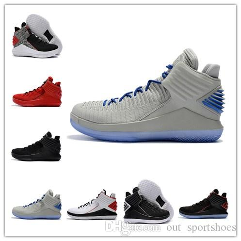 b6961342b1a 32 Basketball Shoes Low Mens Mike 32s XXXII Sky Blue UNC Gatorade Bred Win  Like 86 Sport Discount Designer Sport Trainer Shoe Sneakers