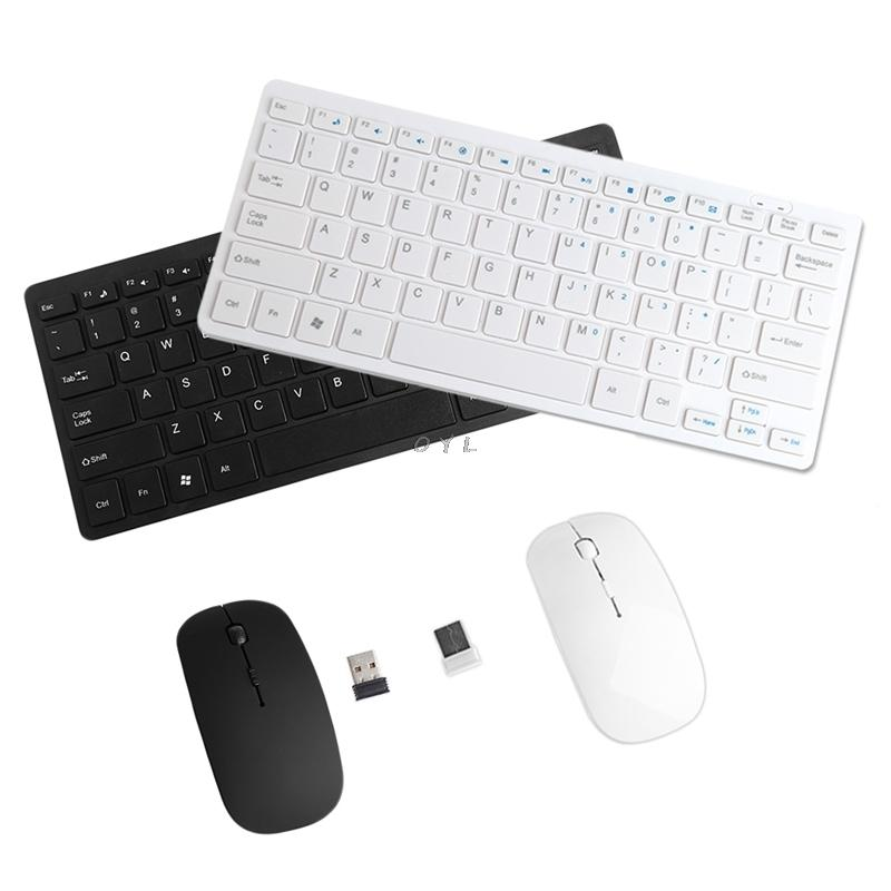 Wireless Mouse Keyboard Set 2.4ghz Mini Keyboard Ultra-thin Mouse Combo Set For Desktops Laptops T190624