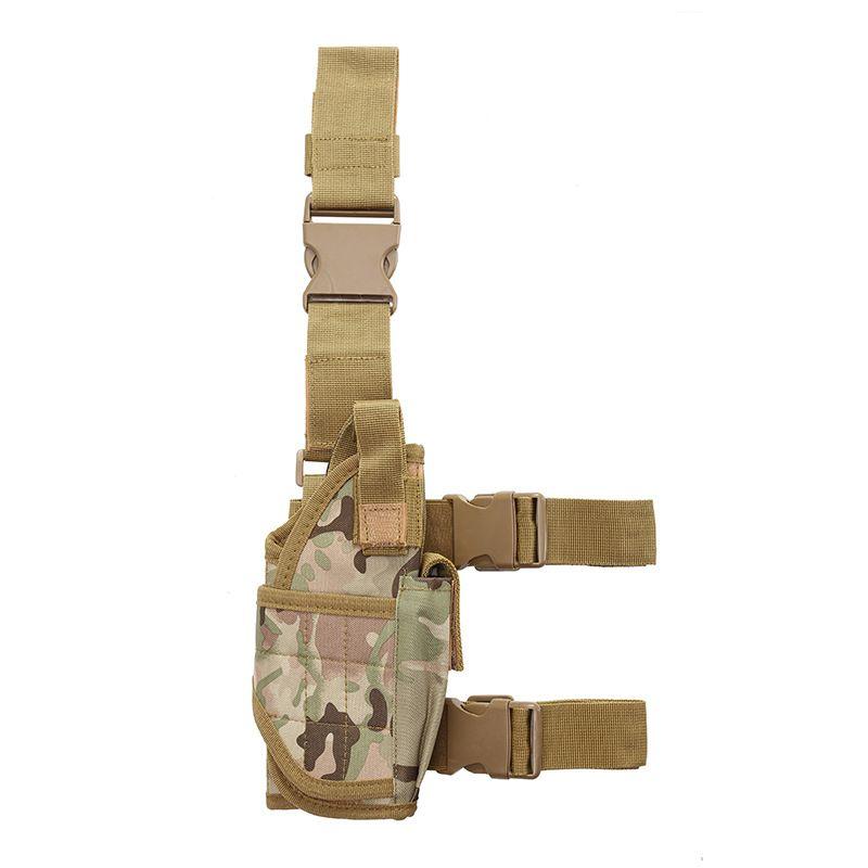 Adjustable Leg Holster Tactical Drop Leg Bag Airsoft Holster Right Leg Handgun Holster Gun Holder Pistol Right Handed