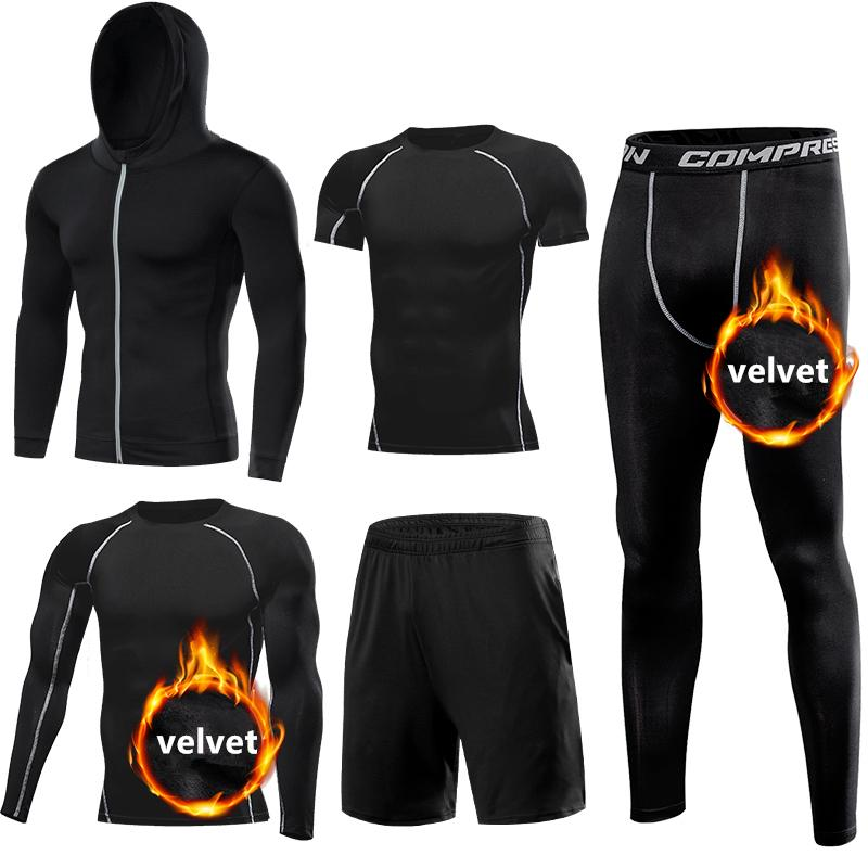 6ea6facb359 New Warm Sport Suit Mens Running Sets Gym Fitness Clothes ...