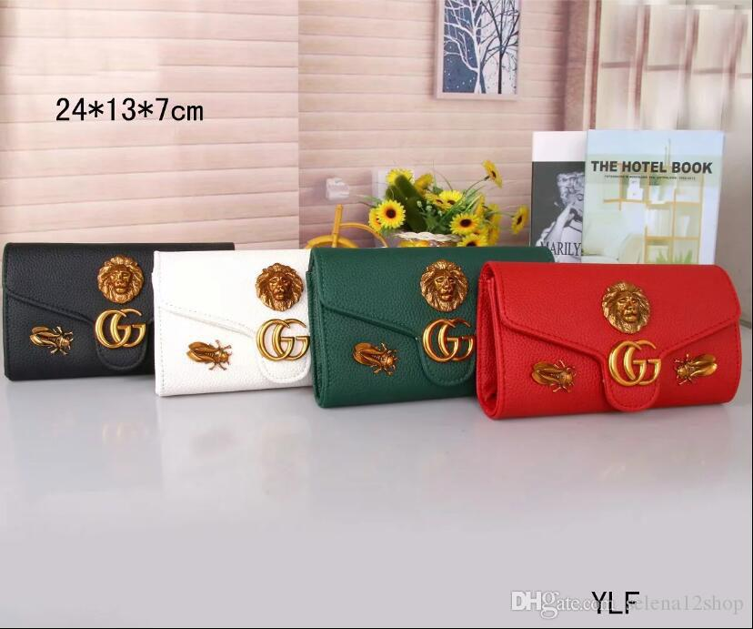 0a6466386b38 New Factory Outlets One Shoulder Long Wallet Embossed Pressure Word Chain  Clutch Bag Dual Use Clamshell Bag Messenger Bag GUCCI Female Girls Wallets  Wallet ...