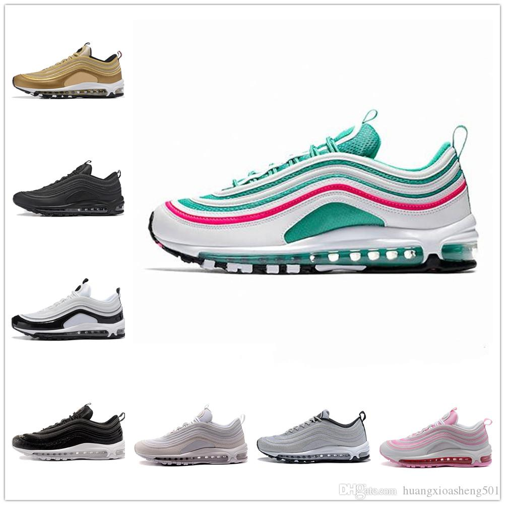 various colors cbed3 3b49c Yellow Steelers 97 X UNDEFEATED OG UNDFTD Running Shoes 97s SE Triple White  Black South Beach Persian Violet Men Women Sports Sneakers 36-45 Designer  ...