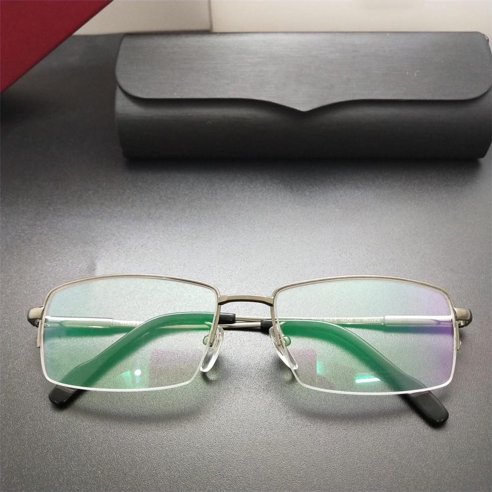 803d468c2c 2019 Newest Fashion Half Frame Glasses For Office Home Reading Luxury  France Designer Women Men Myopia Eyewear High Quality Titanium Eyeglasses  From ...