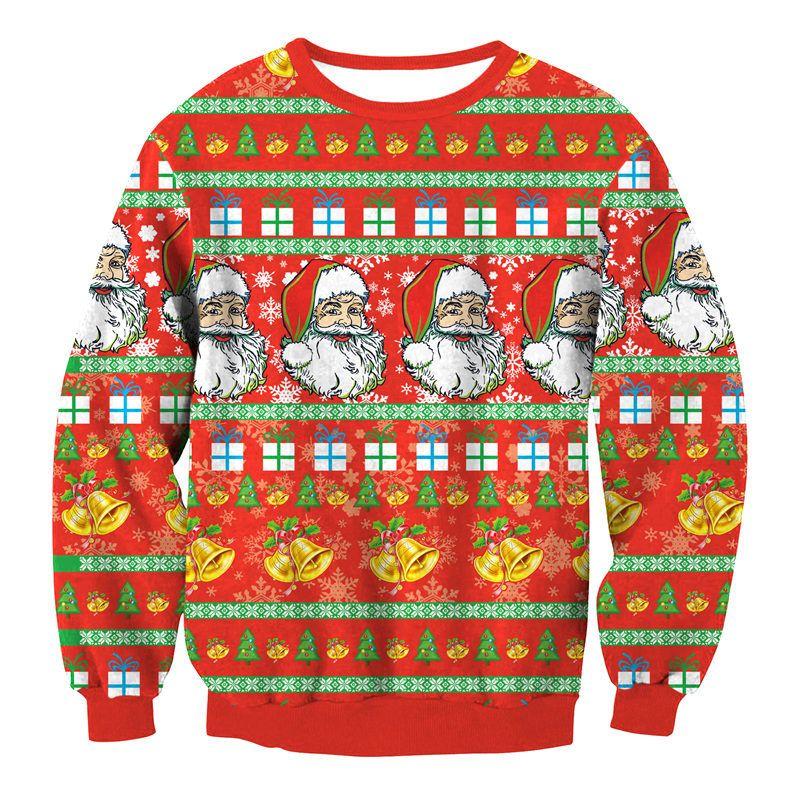 69ea052e88fd8 2019 Red Female Cartoon Santa Printing T Shirts Fashion Unisex Sweatshirts Ladies  Christmas Clothes O Neck Winter Tops Casual Xmas Hoodies From Hilllin1989,  ...