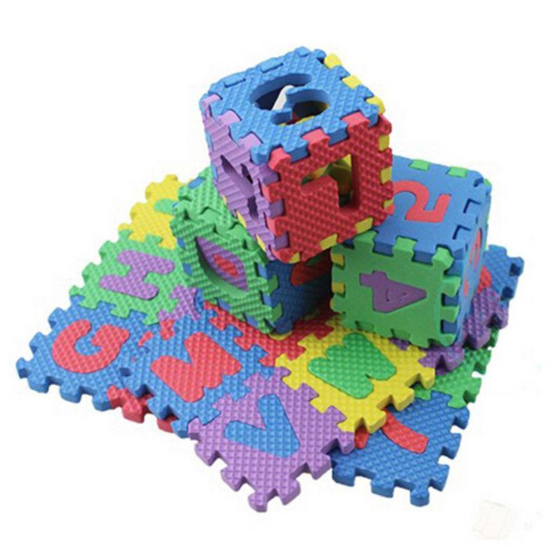 morbida schiuma EVA pad alfabeto lettere numeri pavimenti neri bambino molle Foam Mat 3d educativi giocattoli di puzzle i giochi bambini