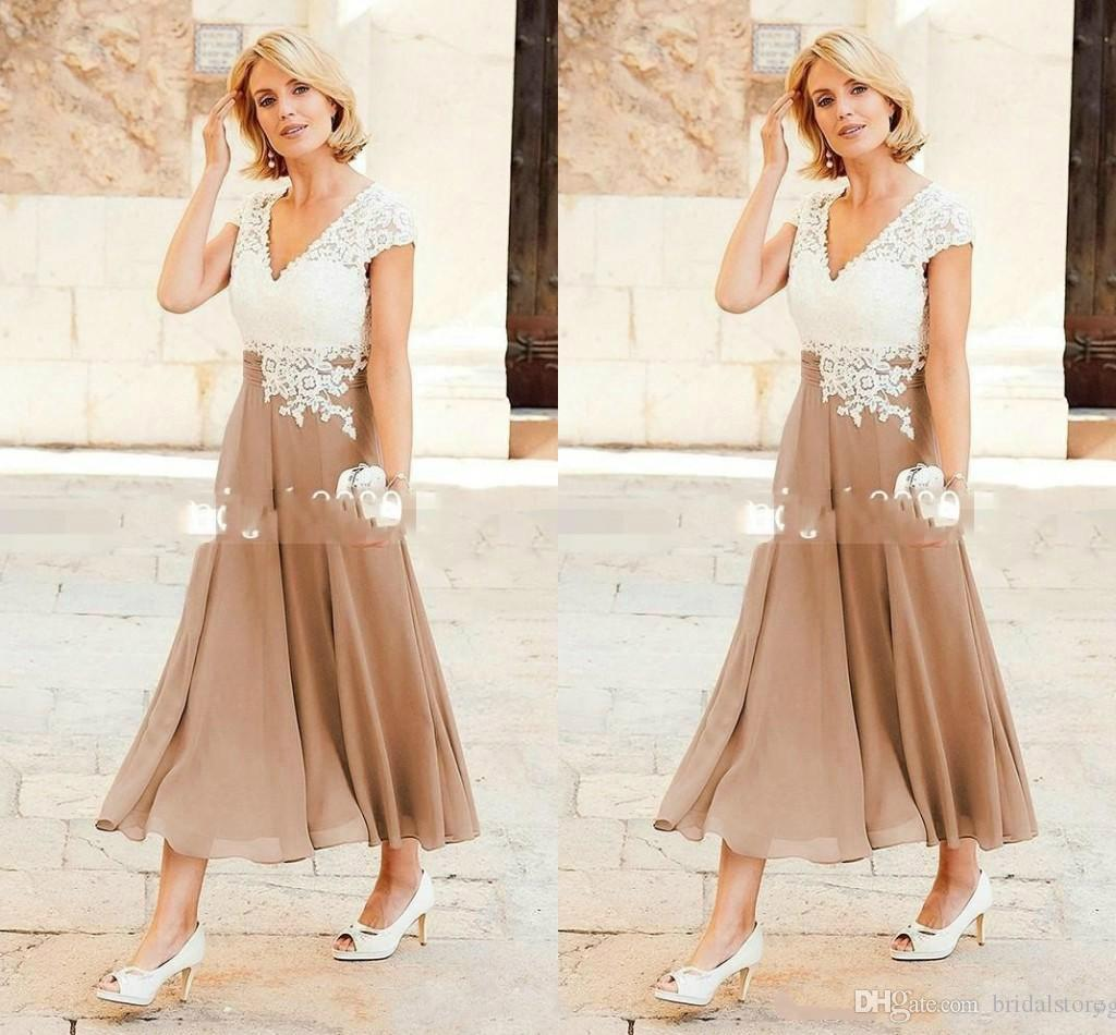 b494f80d64d A Line Princess Scoop Ankle Length Chiffon Mother Of The Bride Dress ...