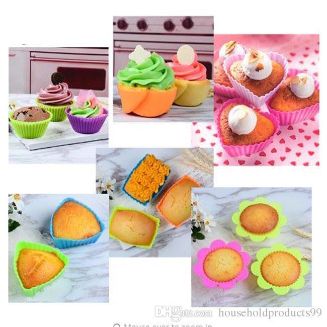 Grosshandel 6 Stucke Nonstick Herz Cupcake Kuchen Formen
