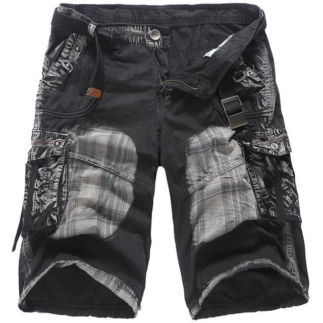d356af27d1df 2019 Denim Jeans Casual Shorts Mens Cargo Shorts Summer Army Black Tactical  Men Cotton Loose Work Casual Short Pants From Redbud03