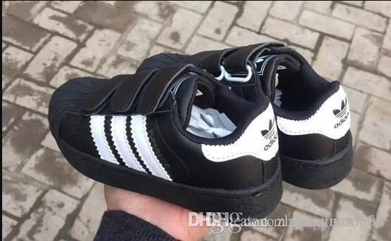 2019 chaussures sport design de haute qualité enfants espadrilles chaussures de sport STAN SMITH BASKETS enfants chaussures de course CASUAL SUPERSTAR 25-35