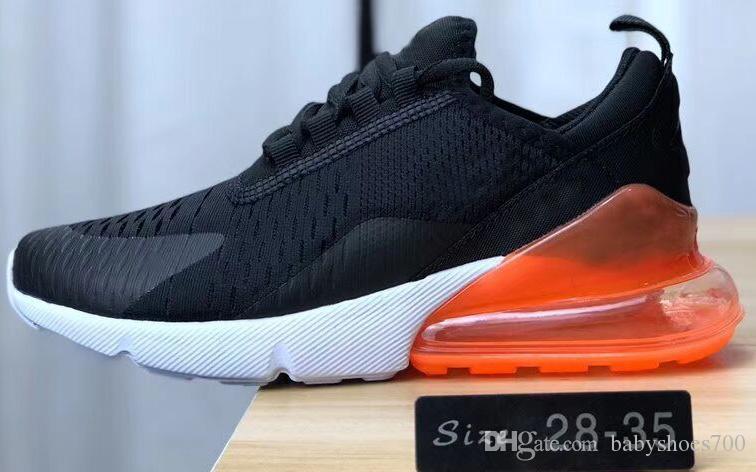 Nike air max 270 Zapatos para niños 2019 Nueva moda para niños, niños, bebés, niñas y niños, zapatos deportivos, zapatillas de deporte para niños,