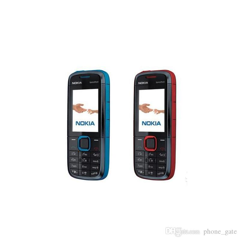 Refurbished Original Nokia 5130 XM XpressMusic Unlocked 2G GSM Bar Phone Bluetooth FM Mobile Cheap Cell Phone 1pcs With Retail Box