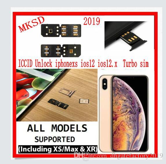 NEW 2019 BEST MKSD Air ICCID Unlock iphone xs ios12.3 ios12.2 iphone xr iphone xs max Turbo sim unlocking chip card gold black