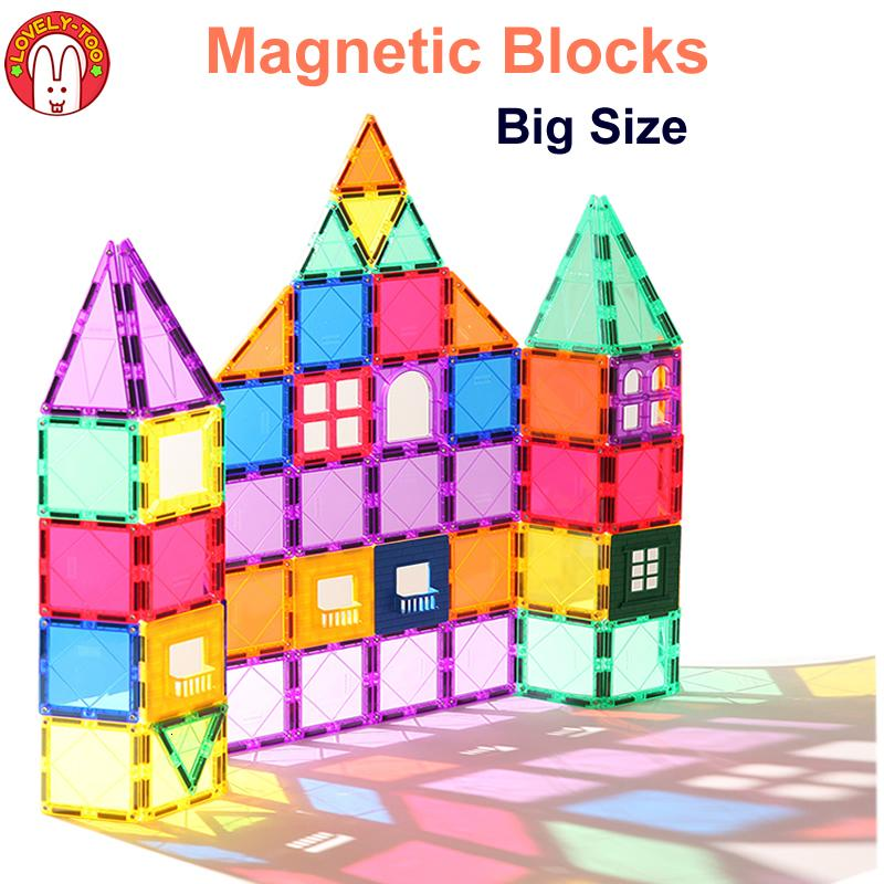 Magnetic Building Blocks Magnetic Tiles Constructor Games Magnet Toy Model Educational Toys For Children LovelyToo SH190913