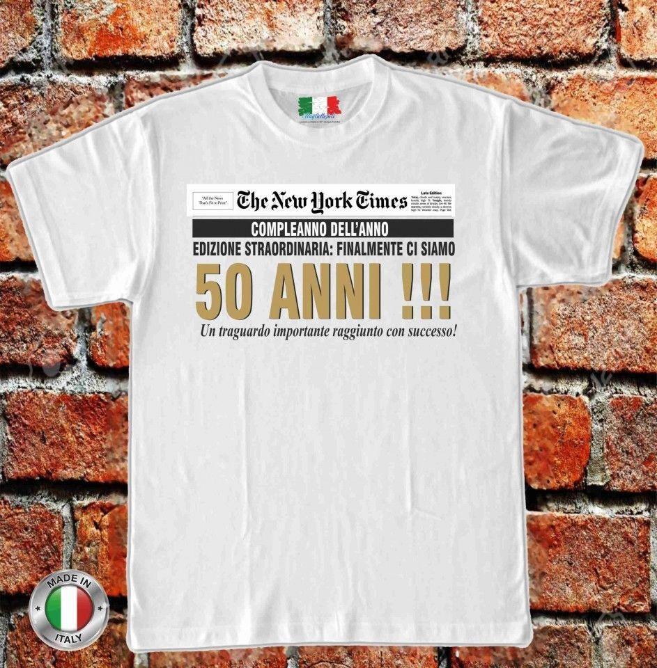 Maglia Maglietta T Shirt Uomo O Donna Idea Regalo 50 Anni Festeggiato Compleanno T Shirt O Neck Knitted