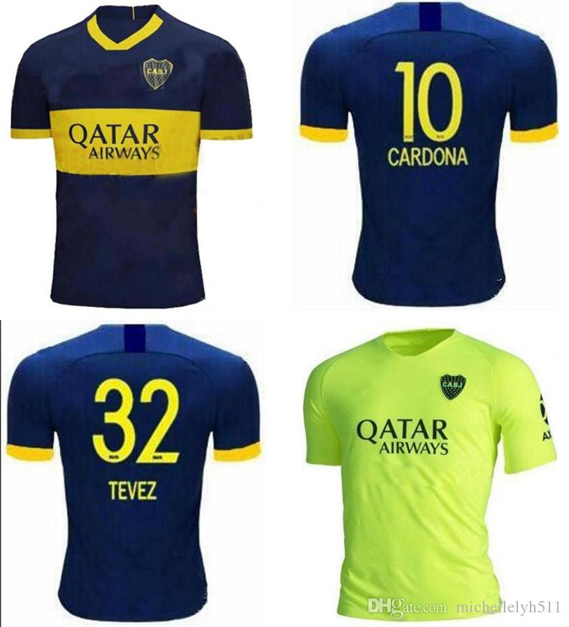 official photos 62809 3fac1 2019 2020 Boca Juniors Jerseys CARLITOS OSVALDO BENEDETTO GAGO Football Top  Boca third green Soccer Shirt Home Deep Blue Sports Uniforms