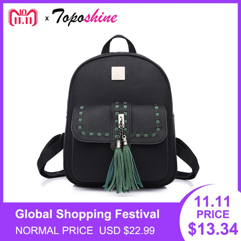 df897b722a 2019 FashionToposhine 2018 Retro Panelled Women Backpacks Fashion PU  Leather Lady Backpacks Girls Backpacks Popular Cute School Bags 1741 Best  Backpack ...
