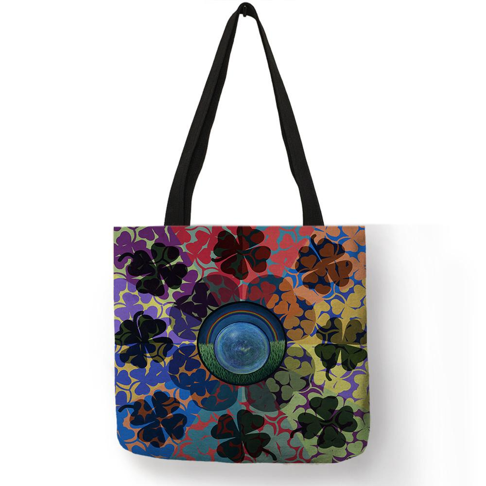 0a90ccb3eb48 Delicate Abstract Printing Storage Handbag Lotus Rose Bright Colored  Pattern Tote Bags Fashion Street Decor Accessories For Girl Purses Designer  Handbags ...