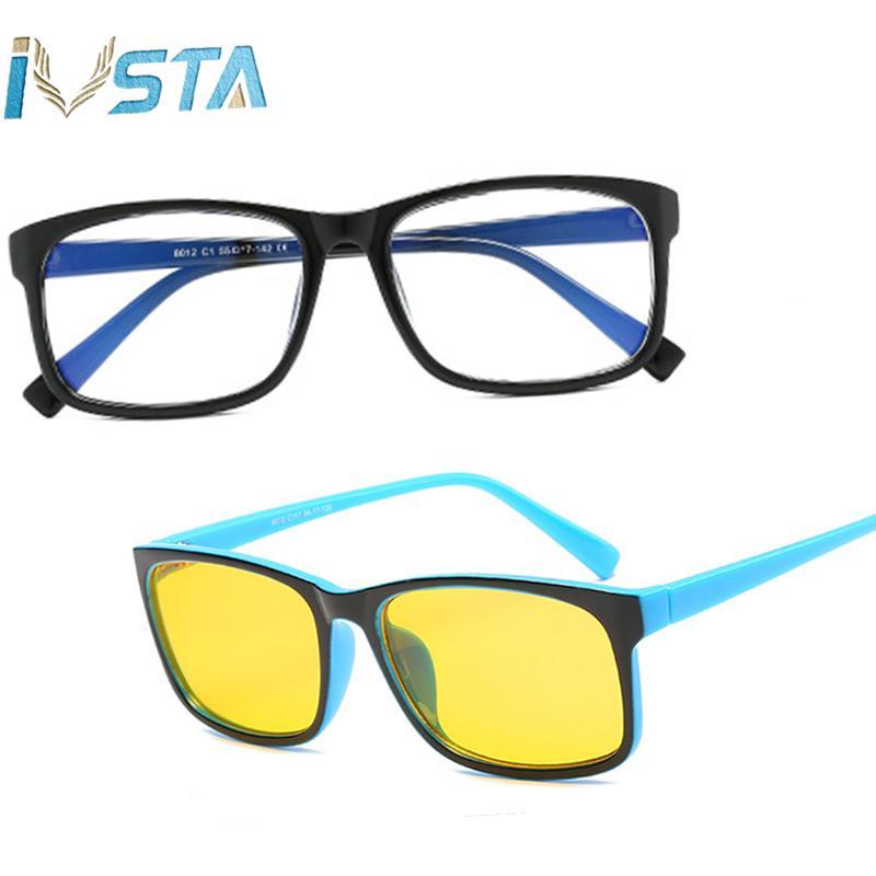 5b6e0bef52 Compre Gafas IVSTA Gaming Gafas De Anteojos Para Hombres Gafas De Miopía  Steampunk De Gran Tamaño Computadora De Prescripción De Tamaño Grande Lentes  De Luz ...