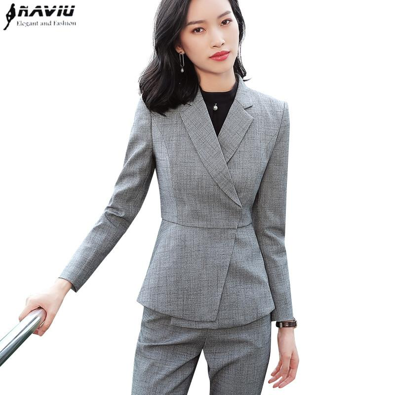 New Fashion White Skirt Suits Set Women Business Slim Long Sleeve Blazer  With Skirt Office Ladies Plus Size Interview Work Wear UK 2019 From Baica d3f87af93