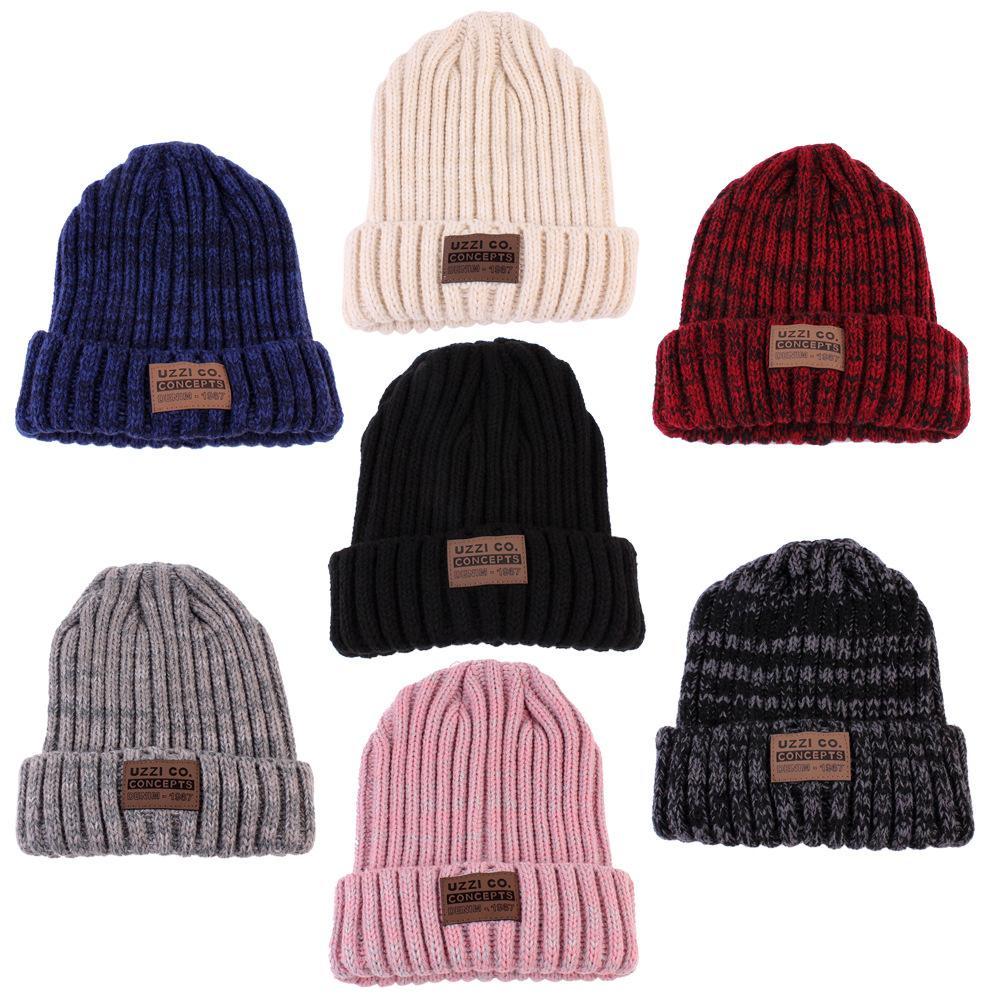 c4bcae28da4ca 2019 Fashion Unisex Winter Warm Hats For Women Wool Knit Crochet Hat Autumn  Spring Female Men Beanie Cap Adult Ski Cap Wholesale From Hcaihong