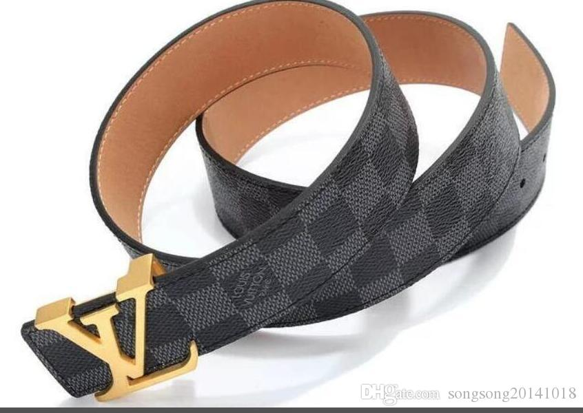 rivenditore all'ingrosso 1f6c2 0a3ee 2019 Louis Vuitton Belts for Mens Snake Real Genuine Leather Business Belts  Women Big Gold Buckle with original Box Black B1116