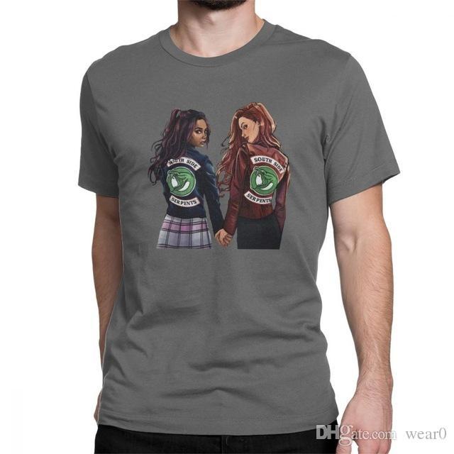 Serie 4xl 6xl Algodón Para Hombre Riverdale Casual Diseñador Camisetas Tops Choni Tv O 2019 Cuello De 5xl Camiseta yfvYI7b6g