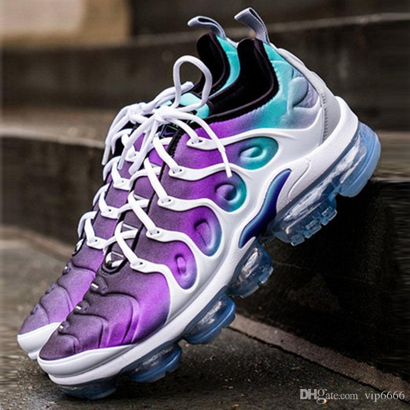 Nike Air Max Vapormax plus TN 2019 Zapatillas deportivas TN Hombres Mujeres triple s Zapatillas para correr al aire libre Negro Presto blanco Shock