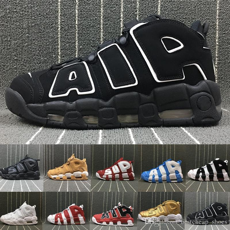 2170d258ef4 2019 New Air More Uptempo 96 QS Olympic UNC White Mens Basketball Shoes Men  Scottie Pippen Shoes Designer Sneakers Luxury Brand Trainers Size 13 From  ...