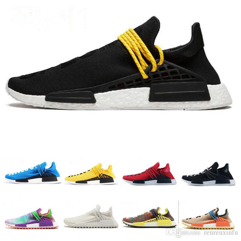 b120781a9 2019 2019 New NMD Human Race TR Men Running Shoes Pharrell Williams Nmds Human  Races Pharell Williams Mens Womens Trainers Sports Sneakers 36 45 From ...