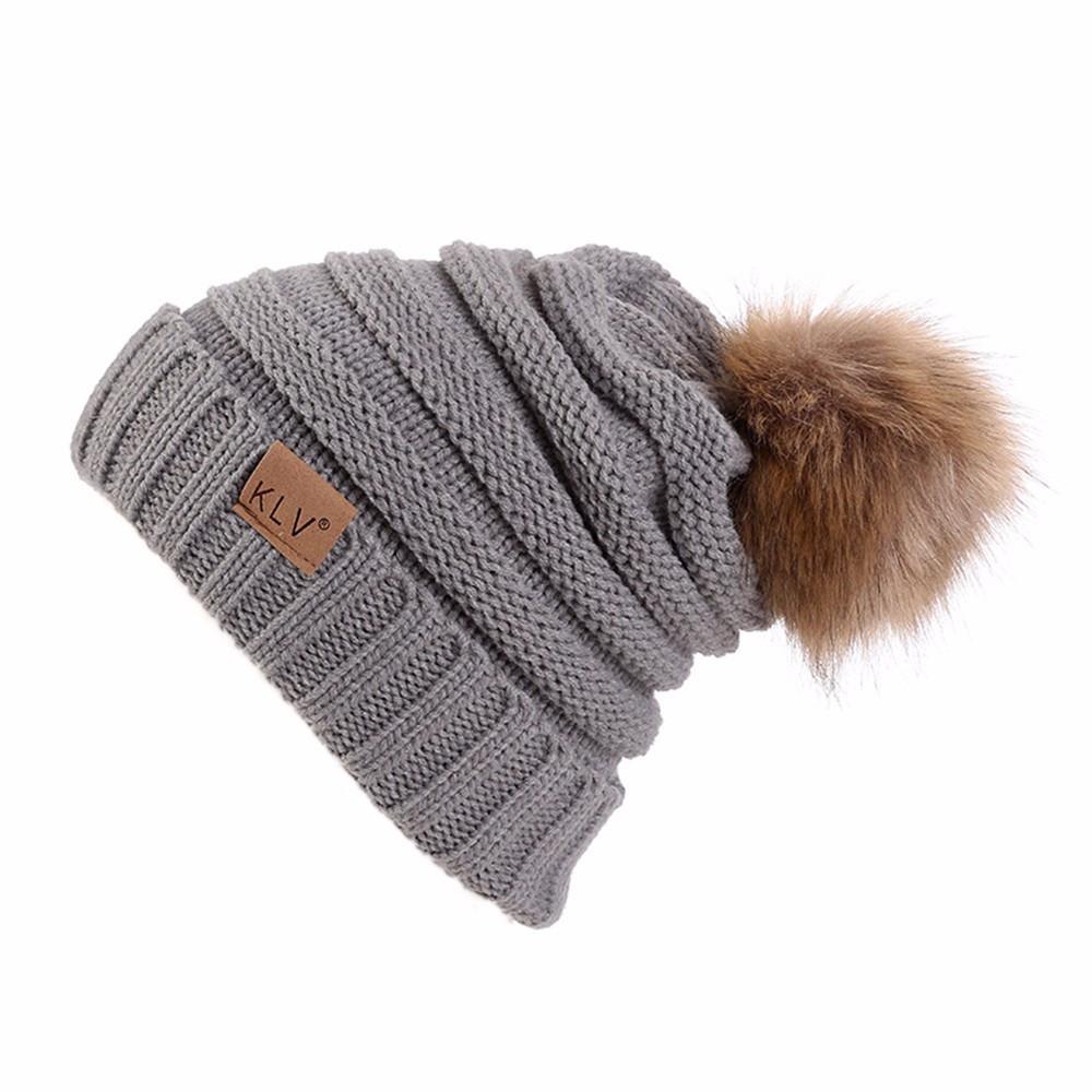 921cf7b9c40 2019 2018 Hot New Fashion Men Women Baggy Warm Crochet Winter Wool Knit Ski  Beanie Skull Slouchy Caps Hat Hot Sale Dropship From Enhengha
