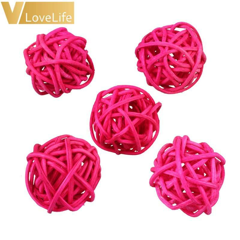 3cm Baby Shower Rattan Ball New Year Decoration Rattan Wicker Balls Party Decoration DIY Sepak Takraw Balls