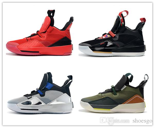 2019 Cheap Travis x 33 NRG Army Olive Men Basketball Shoes All-Star Black Metallic Silver 33 University Red Mens Designer Sneaker CD5965-300