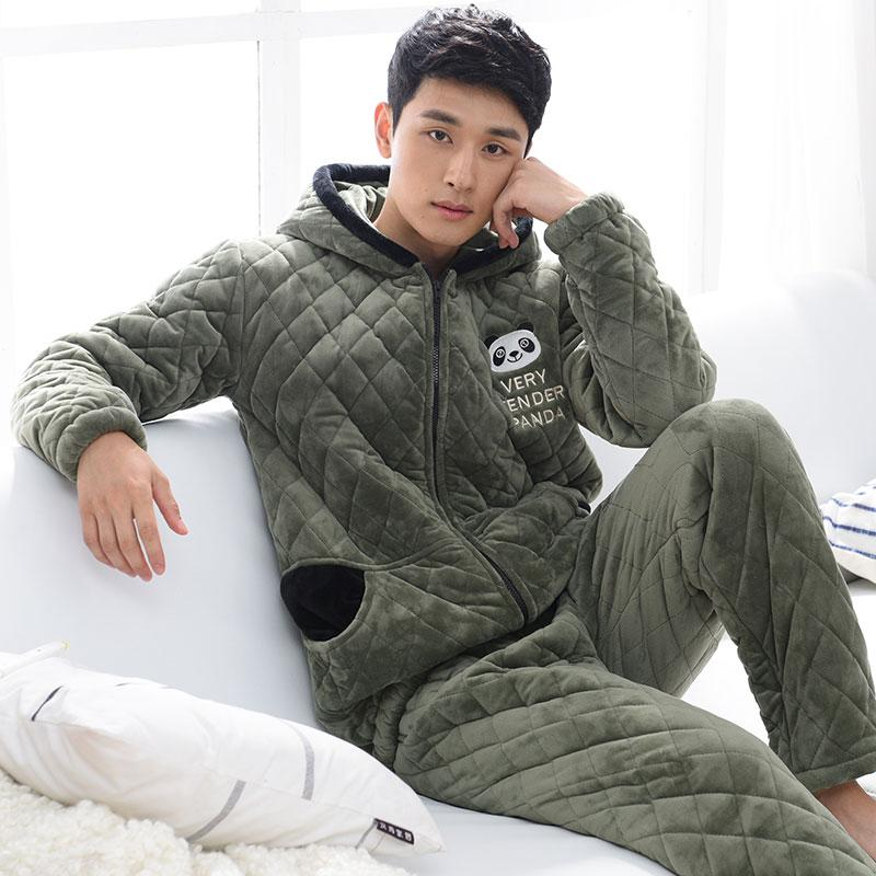 827b8872c2c 2019 Winter Cotton Padded Pyjamas Coral Fleece Wadded Jackets Velvet Men'S  Pajamas Set Sleepwear Pyjamas Suit Pijamas Fashion Quilted From Junxcj, ...