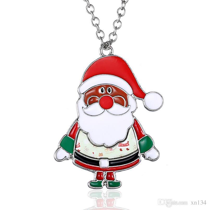 Cross Border Christmas Ornament Santa Claus Sticker Cartoon Ornaments Christmas Series Holiday Gifts