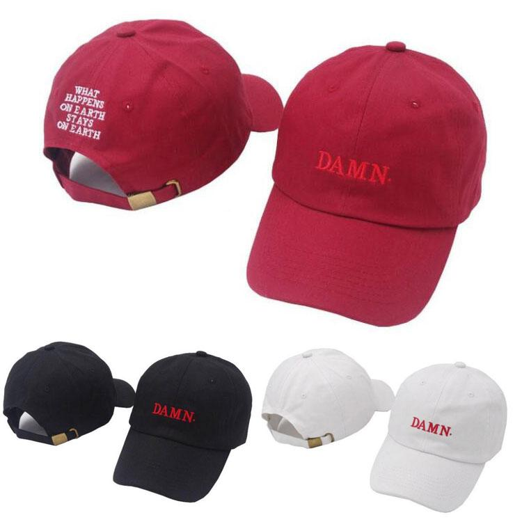3fd9454eb Fashion Embroidery DAMN. Baseball Cap Casual Unisex Snapback Ball Cap  Outdoor Travel Beach Couple Sun Hat Sport Running Hat LJJT667