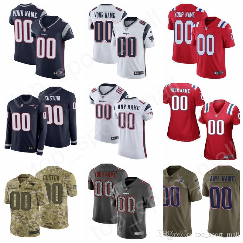 cheap for discount 03e25 a8af7 Custom Jersey Patriots Name Number Men Women Kids Youth Sony Michel James  White Van Noy Cordarrelle Patterson McCourty Chung Hightower Blue